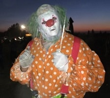Scary Clown in Polka Dot Costume