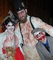 Really Scary People with Bloody Costumes